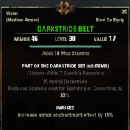Darkstride - Belt 30
