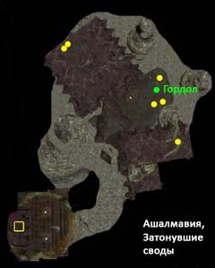 Ашалмавия. затонувшие своды. План