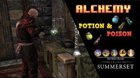 ESO Alchemia Jak działa stacja, craft Potek oraz Trucizn