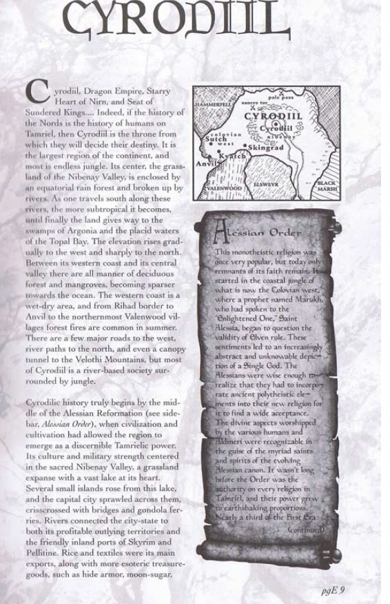 Pocket Guide to the Empire, First Edition – Cyrodiil