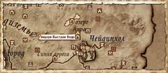 Пещера Быстрая Вода — карта