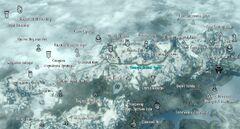 Пещера Волчий Череп, карта