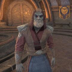 Barbas w postaci Arcykanona Tarvusa z gry The Elder Scrolls Online