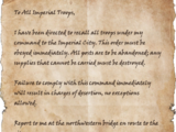 Imperial Recall Orders