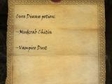 Cure Disease (Potion Recipe)