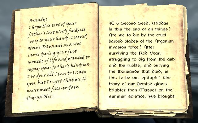 File:Lymdrenn Telvanni's Journal 1.png