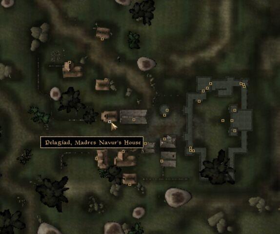 File:TES3 Morrowind - Pelagiad - Madres Navur's House - location map.jpg