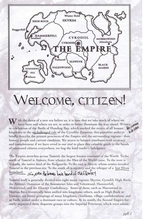 Pocket Guide to the Empire, First Edition – wstęp