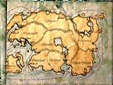 Mapa szlaków Kompanii Wschodniocesarskiej