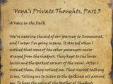 Veya's Private Thoughts, Part 3