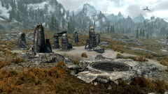 Загадочные нордские колонны - общий вид