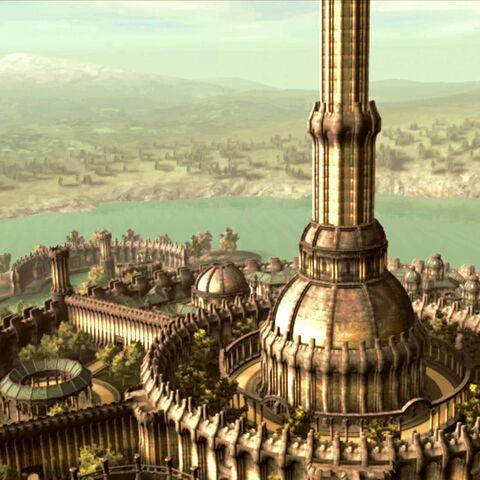 Cesarskie Miasto widoczne w intrze gry