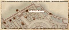 Дом Пеннуса Маллиуса. Карта