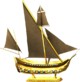 Golden ship model