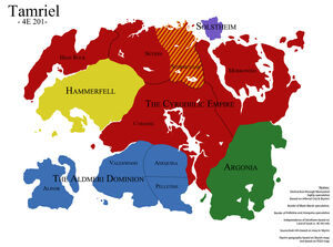 Политическая карта Тамриэля (4Э201)