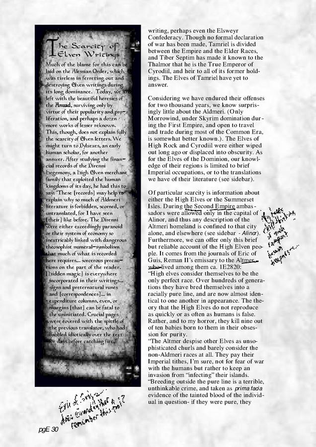 Pocket Guide to the Empire, First Edition – Aldmeri Dominion 2