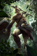 Wood Orc Headhunter card art