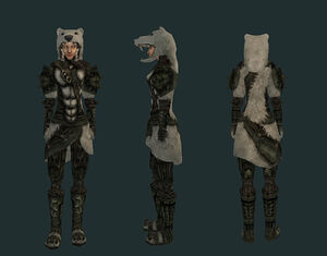 Доспехи из снежного медведя (Bloodmoon) - жен