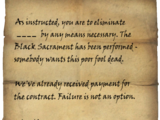 Dark Brotherhood Assassin's Note