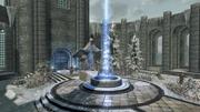 Cortile dell'accademia di Winterhold