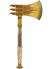 Golden War Axe