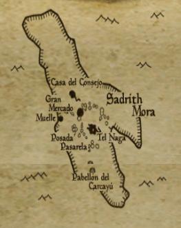 Sadrith mora mapa