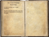 The Trial of Martial Knowledge