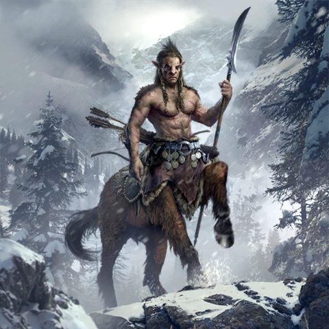 "Karta ""Stary Centaur"" z gry The Elder Scrolls Legends"