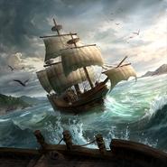 Corsair Ship card art