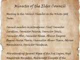 Minutes of the Elder Council