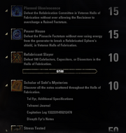 Halls of Fabrication Achievements - 3