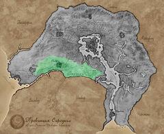 Карта Сиродила - Западный лес