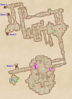 Пещера Полевой дом - план 2