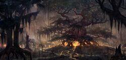 Black Marsh Hist Tree Concept Art