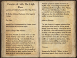 Varieties of Faith: The High Elves