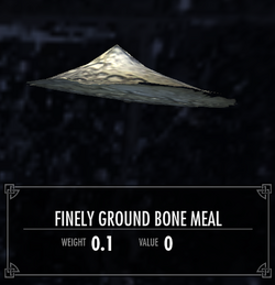 Finely ground bone meal