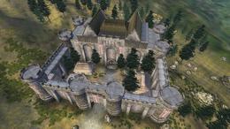 Замок Боевого рога с высоты птичьего полёта