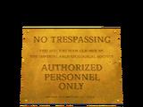 Проход запрещён