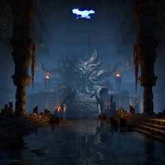 Posąg Hermaeusa Mory z gry The Elder Scrolls Online