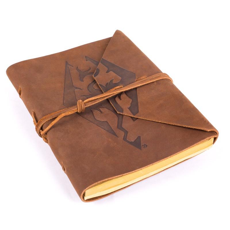 Imperial Dragon Symbol Leather Notebook Elder Scrolls Fandom