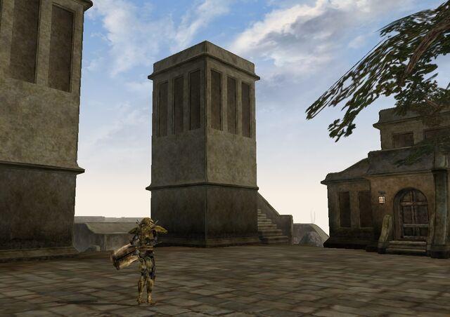 File:TES3 Morrowind - Balmora - Western Guard Tower South exterior.jpg