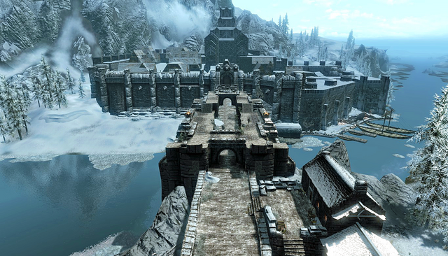 File:Bridge Leading To Windhelm Skyrim.png