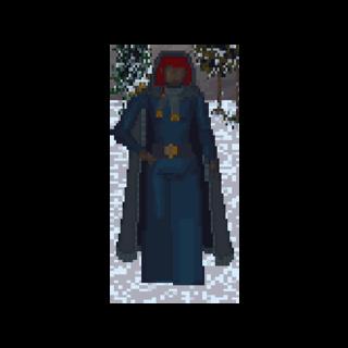 Kobieta z Hammerfell podczas zimy w The Elder Scrolls: Arena