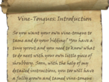 Vine-Tongues: Introduction
