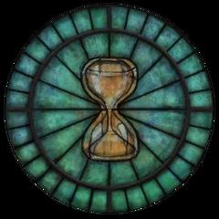Witraż z symbolem Akatosha z gry The Elder Scrolls IV: Oblivion