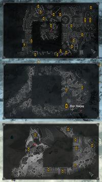 Чёрные квадраты на локальной карте