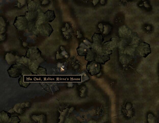 File:TES3 Morrowind - Hla Oad - Relien Rirne's House - location map.jpg