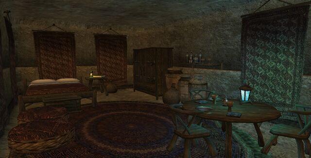 File:TES3 Morrowind - Molag Mar - Saetring the Nord Smith interior bedroom.jpg