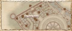 Дом Гилена Норвало. Карта