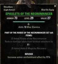 Robes of the Necromancer - Epaulets 29